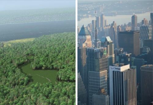 Manhattan 400 anos atrás